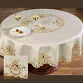 Angelica Round Tablecloth Ivory 70 Round
