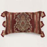 Ravenna Bead Trim Pillow Multi Warm Rectangle