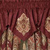 Ravenna Embroidered Ascot Valance Multi Warm 40 x 21