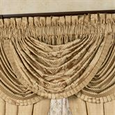 Napoleon Floral Waterfall Valance Gold 42 x 33