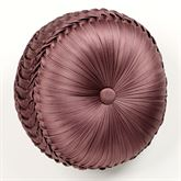 Josephine Tufted Pillow Maroon Round