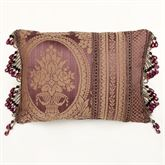 Josephine Tailored Pillow Maroon Rectangle