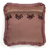 Josephine Flanged Pillow Maroon 20 Square