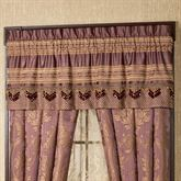 Josephine Tailored Valance Maroon 60 x 18