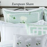 Garden Trellis Tailored Sham Light Teal European