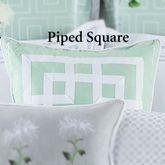 Garden Trellis Piped Pillow Light Teal 18 Square