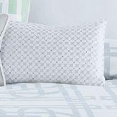 Garden Trellis Embroidered Pillow White Rectangle