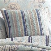 Pacifica Striped Quilted Pillow Pale Blue 16 Square
