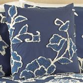 Blue Grotto Chenille Tailored Pillow Midnight 18 Square