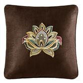 Coventry Embroidered Pillow Chocolate 18 Square