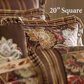 Coventry Flanged Pillow Chocolate 20 Square