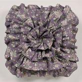 Ambrosia Ruffled Pillow Violet 18 Square