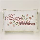 Honeysuckle Kiss Goodnight Embroidered Pillow Buttercream Rectangle