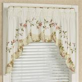 Honeysuckle Contour Swag Valance Buttercream 72 x 36