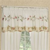 Honeysuckle Tailored Valance Buttercream 60 x 18