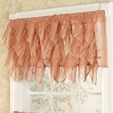 Cascade Sheer Voile Ruffled Valance 50 x 16