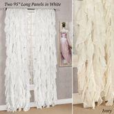 Cascade Sheer Voile Long Curtain Panel 50 x 95