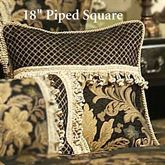 Lismore Piped Pillow Black 18 Square