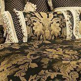 Lismore Tailored Pillow Black Rectangle