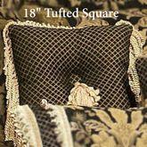 Lismore Tufted Pillow Black 18 Square