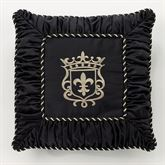 Fontainebleau Embroidered Pillow Black 18 Square