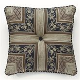 Fontainebleau Piped Button Pillow Taupe 20 Square