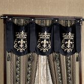 Fontainebleau Tailored Swag Valance Black 54 x 20