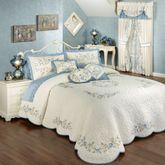 Vintage Charm Grande Bedspread Dusty Blue