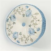 Vintage Charm Tufted Pillow Dusty Blue Round