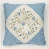 Vintage Charm Tufted Pillow Dusty Blue 18 Square