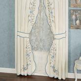Vintage Charm Tailored Curtain Pair Dusty Blue 84 x 84
