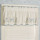 Vintage Charm Tailored Valance Dusty Blue 60 x 18