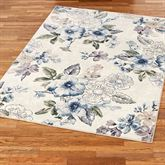 Floral Bliss Rectangle Rug Light Cream