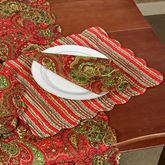Gloria Rectangle Placemats Red Set of Four