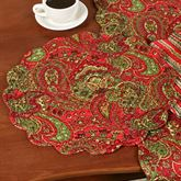Gloria Round Placemats Red Set of Four