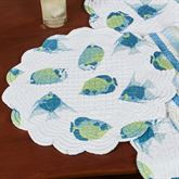 Island Bay Round Placemats Multi Cool Set of Four