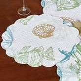 Reef Point Round Placemats Multi Cool Set of Four
