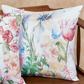 Butterfly Floral Decorative Pillow Multi Pastel