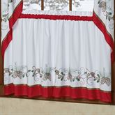 Holiday Garland Tier Pair White