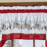 Holiday Garland Tailored Valance White 56 x 12