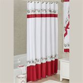 Holiday Garland Shower Curtain White 70 x 72