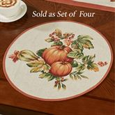 Harvest Round Placemats Natural Set of Four