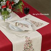 French Perle Tree Placemats Natural Set of Four