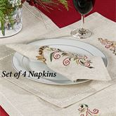 French Perle Tree Napkins Natural Set of Four