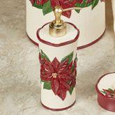 Poinsettia Charm Lotion Soap Dispenser Champagne