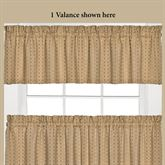 Vagabond Tailored Valance Tan 58 x 13