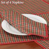 Holiday Nouveau Joyful Napkins Red Set of Four
