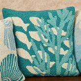 Coral and Fish Accent Pillow Multi Cool 20 Square