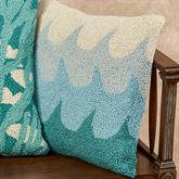 Waves Accent Pillow Multi Cool 18 Square