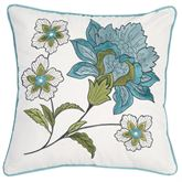 Adrienne Meadow Embroidered Pillow Off White 18 Square